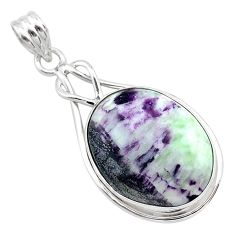 16.82cts natural purple kammererite 925 sterling silver pendant jewelry t22831