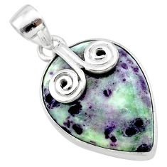 16.20cts natural purple kammererite 925 sterling silver pendant jewelry t22841