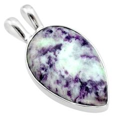 13.70cts natural purple kammererite 925 sterling silver pendant jewelry t22876