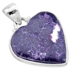 16.70cts natural purple lepidolite 925 sterling silver pendant jewelry t13262