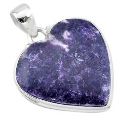 25.00cts natural purple lepidolite 925 sterling silver pendant jewelry t13275