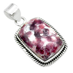 18.15cts natural purple lepidolite 925 sterling silver pendant jewelry t53747