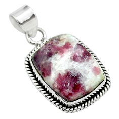 14.57cts natural purple lepidolite 925 sterling silver pendant jewelry t53749