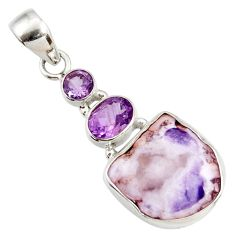 12.62cts natural purple opal amethyst 925 sterling silver pendant jewelry d44113
