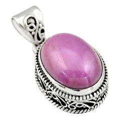 9.44cts natural purple phosphosiderite (hope stone) 925 silver pendant r19042