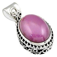 9.03cts natural purple phosphosiderite (hope stone) 925 silver pendant r19050