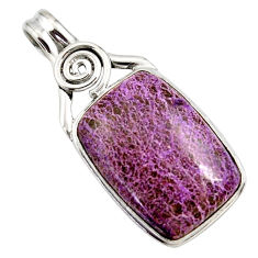 16.20cts natural purple purpurite 925 sterling silver pendant jewelry r27661
