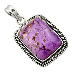 19.82cts natural purple purpurite 925 sterling silver pendant jewelry r29360