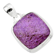 14.15cts natural purple purpurite 925 sterling silver pendant jewelry r46329