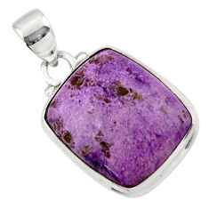 12.70cts natural purple purpurite 925 sterling silver pendant jewelry r46340