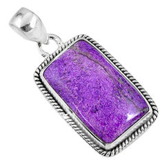 15.08cts natural purple stichtite 925 sterling silver pendant jewelry r60895
