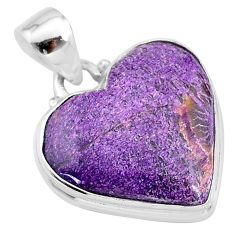 13.15cts natural purple stichtite 925 sterling silver pendant jewelry t13389