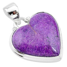 14.57cts natural purple stichtite 925 sterling silver pendant jewelry t13392