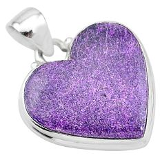 16.07cts natural purple stichtite 925 sterling silver pendant jewelry t13396