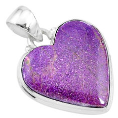 13.15cts natural purple stichtite 925 sterling silver pendant jewelry t13418