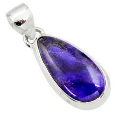 10.70cts natural purple sugilite 925 sterling silver pendant jewelry r36381