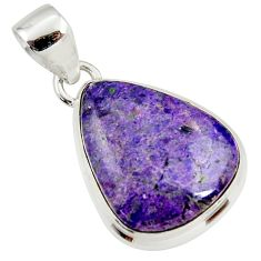 12.15cts natural purple sugilite 925 sterling silver pendant jewelry r36383