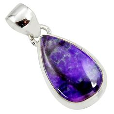 9.35cts natural purple sugilite 925 sterling silver pendant jewelry r36387