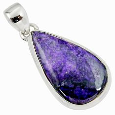 12.41cts natural purple sugilite 925 sterling silver pendant jewelry r36391