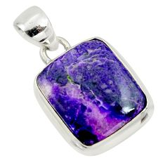11.95cts natural purple sugilite 925 sterling silver pendant jewelry r36392