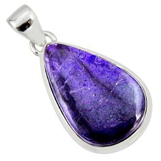 14.23cts natural purple sugilite 925 sterling silver pendant jewelry r36393