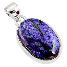 13.15cts natural purple sugilite 925 sterling silver pendant jewelry r36396