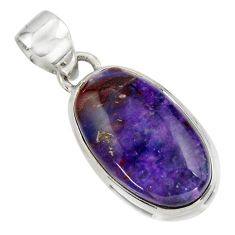 13.60cts natural purple sugilite 925 sterling silver pendant jewelry r44470