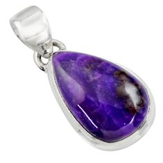 10.22cts natural purple sugilite 925 sterling silver pendant jewelry r44471