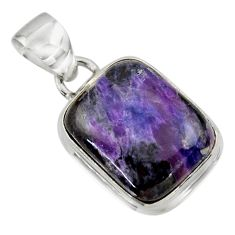 12.01cts natural purple sugilite 925 sterling silver pendant jewelry r44473