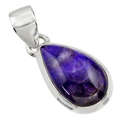 10.72cts natural purple sugilite 925 sterling silver pendant jewelry r44475