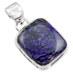 10.90cts natural purple sugilite 925 sterling silver pendant jewelry r44476