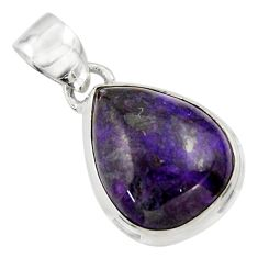 11.73cts natural purple sugilite 925 sterling silver pendant jewelry r44480