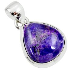 11.26cts natural purple sugilite pear 925 sterling silver pendant jewelry r36382