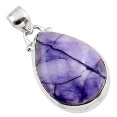 12.22cts natural purple tiffany stone 925 sterling silver pendant jewelry r46203