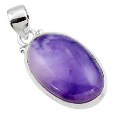13.12cts natural purple tiffany stone 925 sterling silver pendant jewelry r46211