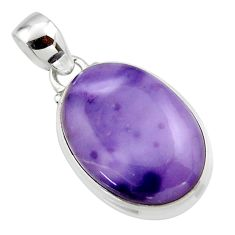 13.22cts natural purple tiffany stone 925 sterling silver pendant jewelry r46214