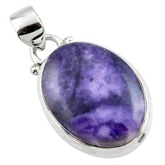 12.20cts natural purple tiffany stone 925 sterling silver pendant jewelry r46215