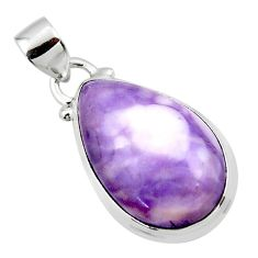 12.68cts natural purple tiffany stone 925 sterling silver pendant jewelry r46218