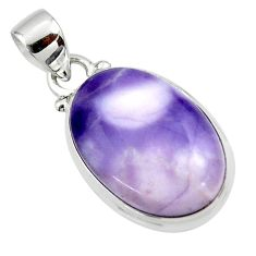 11.65cts natural purple tiffany stone 925 sterling silver pendant jewelry r46219