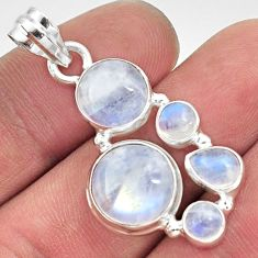 12.28cts natural rainbow moonstone 925 sterling silver pendant jewelry d43420