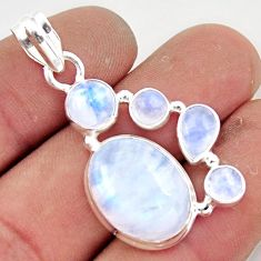 15.70cts natural rainbow moonstone 925 sterling silver pendant jewelry r43060
