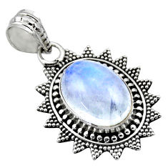 6.07cts natural rainbow moonstone 925 sterling silver pendant jewelry r53156