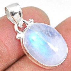 11.20cts natural rainbow moonstone 925 sterling silver pendant jewelry r63850