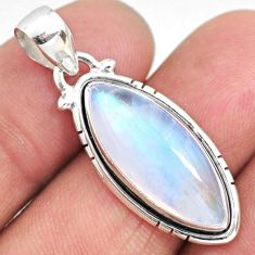 11.55cts natural rainbow moonstone 925 sterling silver pendant jewelry r63886