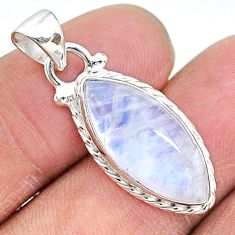 9.00cts natural rainbow moonstone 925 sterling silver pendant jewelry t12886