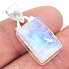 10.81cts natural rainbow moonstone 925 sterling silver pendant jewelry t23733