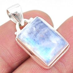 12.10cts natural rainbow moonstone 925 sterling silver pendant jewelry t23737