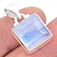 11.23cts natural rainbow moonstone 925 sterling silver pendant jewelry t23746