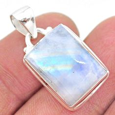 10.57cts natural rainbow moonstone 925 sterling silver pendant jewelry t23749