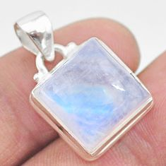12.52cts natural rainbow moonstone 925 sterling silver pendant jewelry t23751